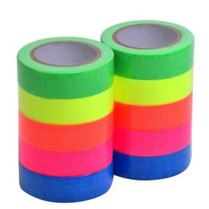 10-Pack UV Blacklight Reactive Tape Fluorescent Cloth Tape/Neon Gaffer Tape IN9