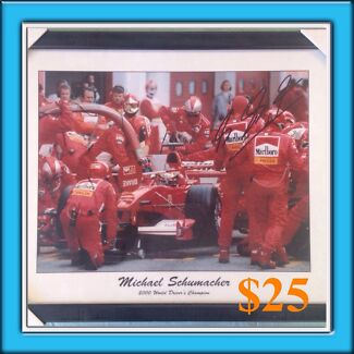 Framed  Formula 1 prints, Father's Day gifts Bunbury 6230 Bunbury Area Preview