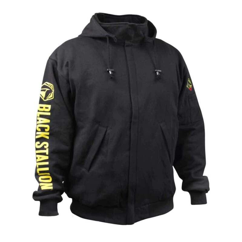 Black Stallion JF1331 TruGuard 200 FR Cotton Hooded Sweatshirt Black Large