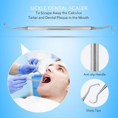 Dental Tarter Scraper Stainless Steel Scaper Teeth Cleaning For Personal And Pet