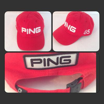 PING Mens Red G5 Golf Cap Adjustable Strap Baseball Style Hat Sport EUC 9d0b580afe67