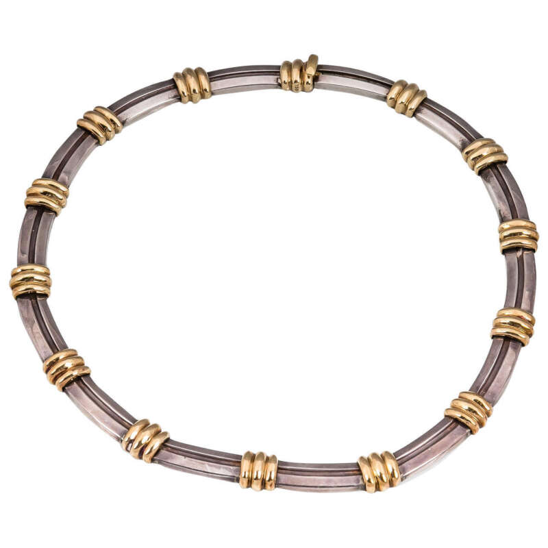 Tiffany & Co. Gold and Sterling Choker 101