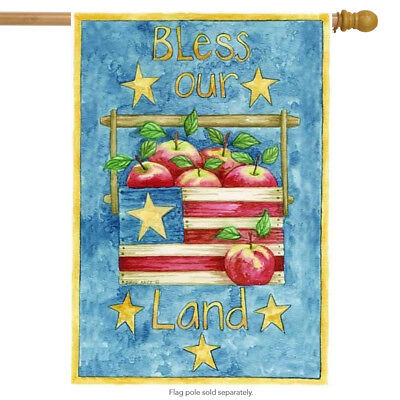 Used, Bless Our Land Patriotic House Flag for sale  Shipping to India
