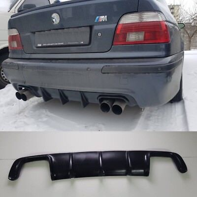 BMW E39 REAR BUMPER Diffuser Lip splitter M5 HM LIP Spoiler , used for sale  Shipping to United States