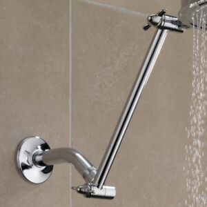 Shower Head Extender Arm with Shower Head and Hose