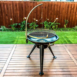 80cm Thick Iron Height Adjustable Hanging BBQ,Christmas Sale