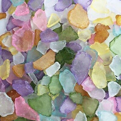 SEEGLAS 1 kg. Glasscherben ca 20 - 50 mm, Mosaikglas, Glas- Bruch. GEMISCHT Scherben