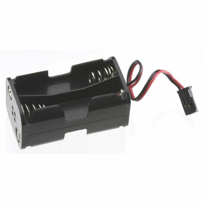 Tactic 4 Cell AA Battery Holder w/Futaba J Connector TACM2020