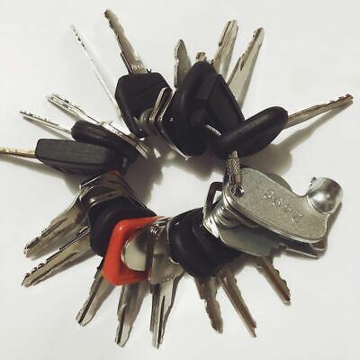 31 Keys Construction Ignition Heavy Equipment Key Set Cat Case Volvo Jd Bobcat