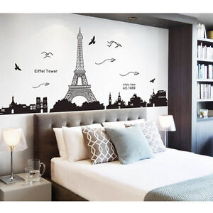 Bedroom Home Decor Removable Paris Eiffel Tower Art Decal Wall Sticker Mural