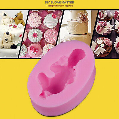 Silicone Sleeping Baby Shape 3D Cake Mould Fondant  Candy Cupcakes Decorating #H