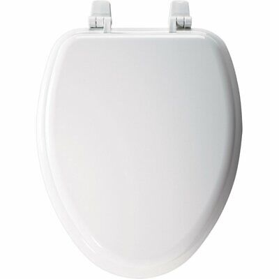 Bemis Molded Wood Elongated Toilet Seats Plastic White Close Slow Durable New