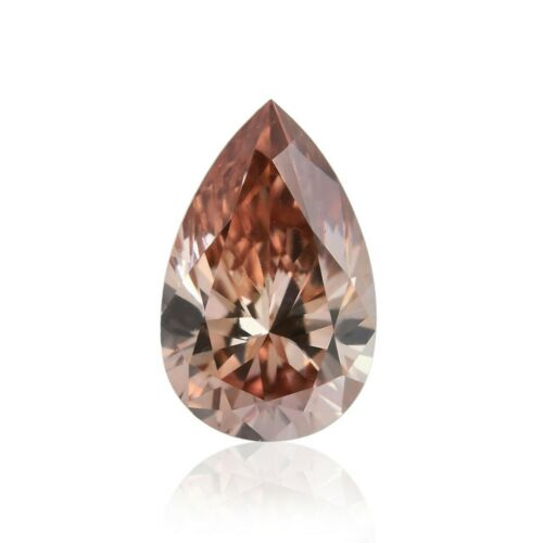 0.16Cts Argyle Fancy Brown Pink Loose Diamond Natural Color Pear Shape GIA Cert