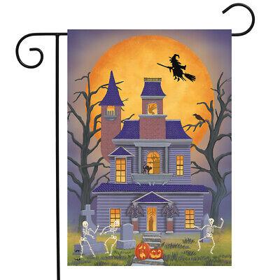 "Haunted House Party Garden Flag Halloween 12.5"" x 18"" Briarwood"