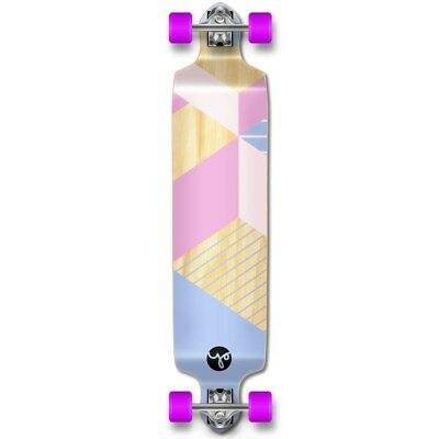 Drop Down Longboard Complete - Geometric Series - Purple