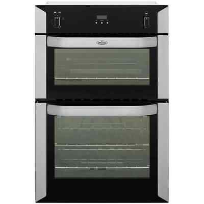 Belling BI90G Built In 60cm Gas Double Oven Stainless Steel New from AO