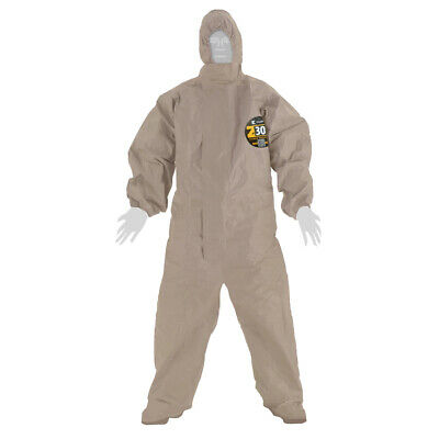 Kappler Zytron 300 Chemical Ppe Hazmat Coverall Suit With Hood Large Xl