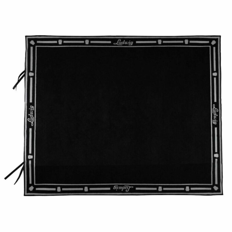 """Ludwig Non-Slip Drum Rug with Weighted Corners, Black, 78"""" x 63"""""""