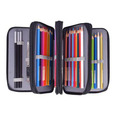 Colored Pencil Case 72 Slot Artist Art Color Pen Holder Bag Crayon Organizer