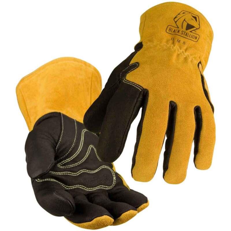 Black Stallion BSX BM88 Premium Pigskin & Cowhide MIG Welding Glove Medium