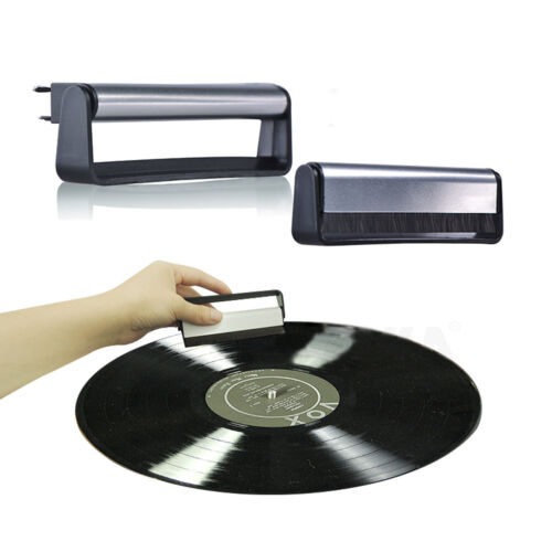 Professional Anti-Static Vinyl Record Velvet Cleaning Cleaner Pad Brush Great