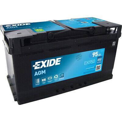 EXIDE EK950 AGM START-STOP Autobatterie Batterie Starterbatterie 12V 95Ah EN850A