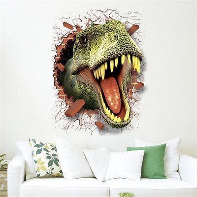 PVC 3D Dinosaur Jurassic Park Wall Sticker Kids Room Mural Art Decoration  YA9 - Jurassic Park Decorations