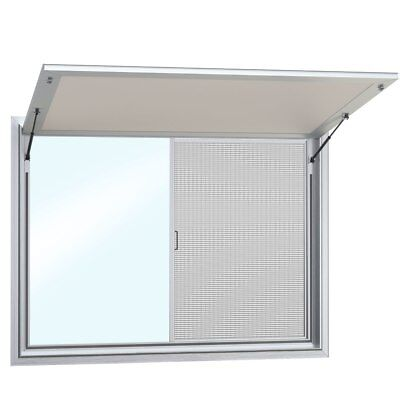 Concession Stand Trailer Serving Window w/ Awning Cover 2 Window | 53