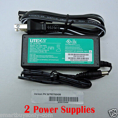 LITEON [2 PCS] Adapter 12V 1.5A PA-1180-2AR2 Verizon 56785700499 100-240V 50/60