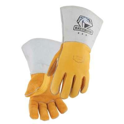 Black Stallion 850 Premium Grain Elkskin Stick Welding Gloves Medium