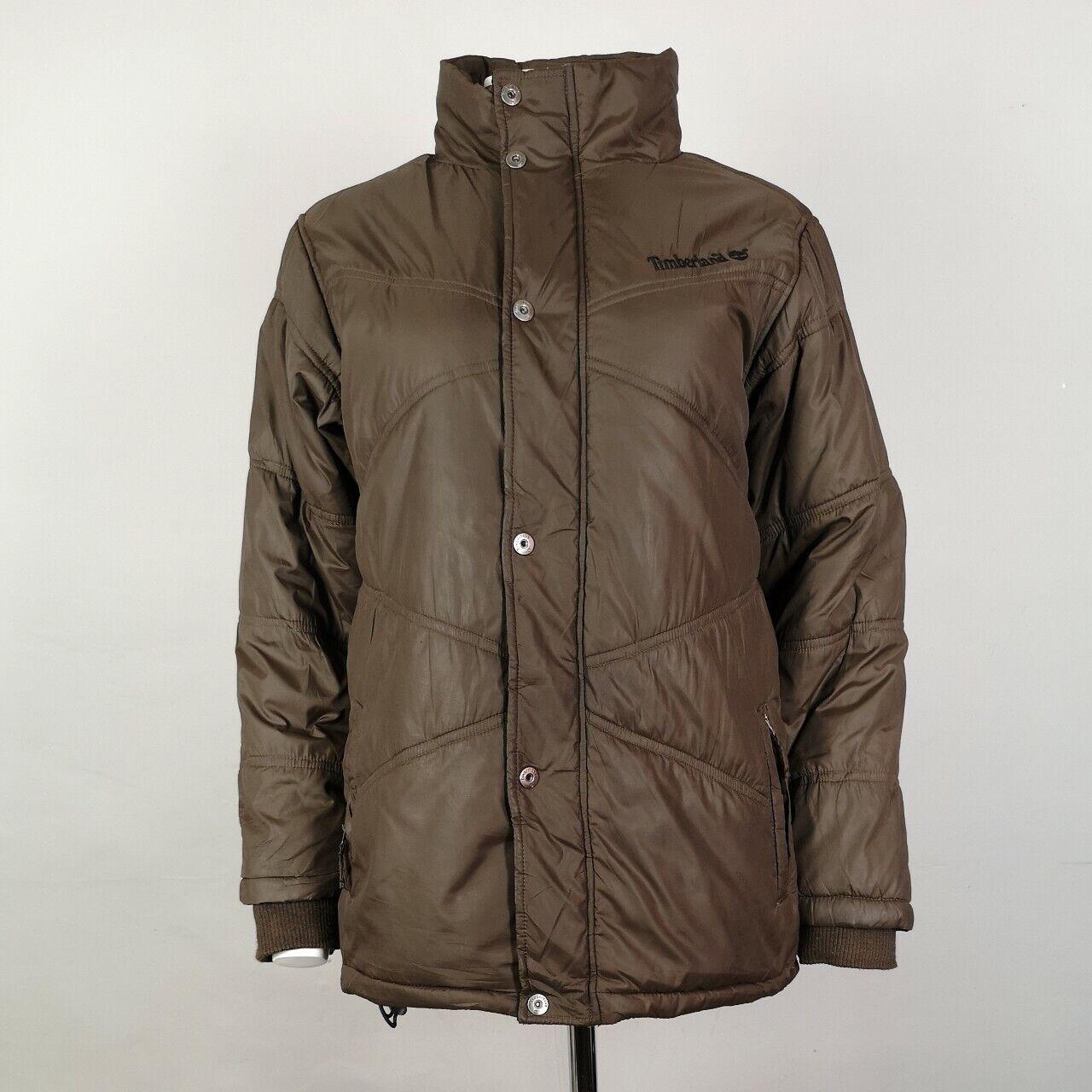 A tiempo Kilómetros secretamente  Women's Timberland Puffer Jacket With Fleece Lining In Brown Size UK 12    eBay