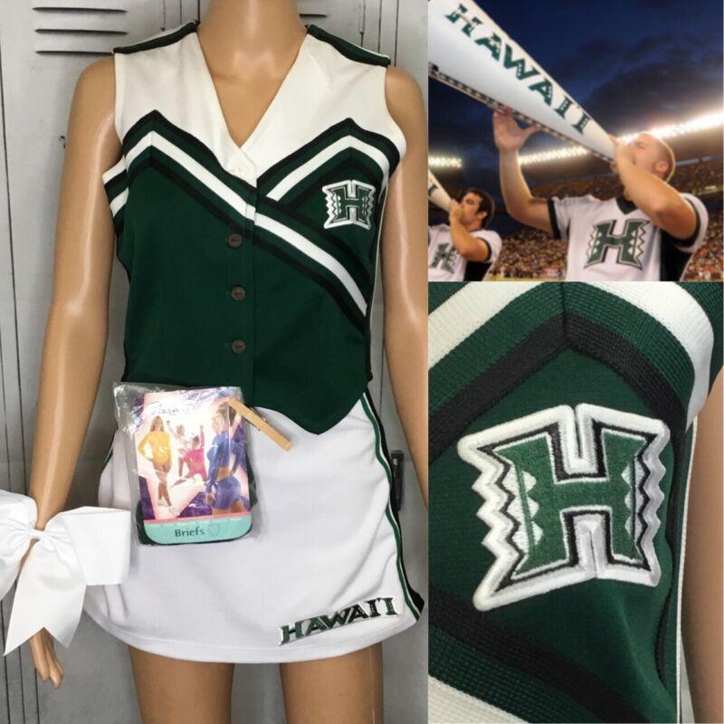 Cheerleading Uniform Vintage College University Of Hawaii Adult Med