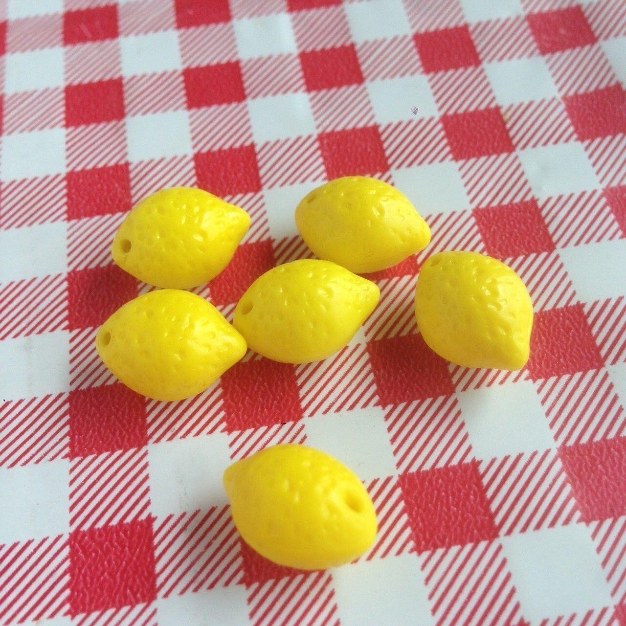 lemon fruit beads czech glass diy jewelry