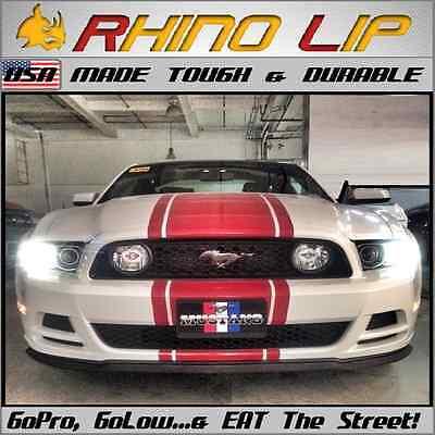 Mustang Flexible Front Rubber Universal Chin Lip Spoiler Splitter Edge Aero Trim