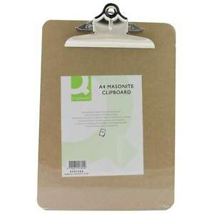 6-x-A4-Clipboards-Masonite-Heavy-Duty-Clip-Board-Wooden-Fits-Up-To-Foolscap