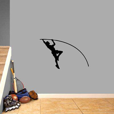 Pole Vaulter Wall Decal - Sports, Running, Team, Bedroom, Gym, Locker (Locker Room Bedroom)