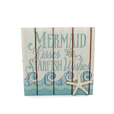 Mermaid Kisses and Starfish Wishes Sign Beach Decor, Free Shipping (Beach Decoration)