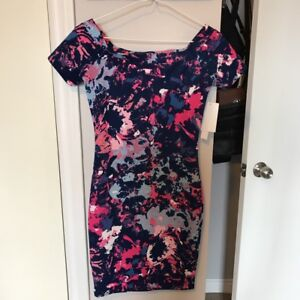 Lord & Taylor bodycon floral dress