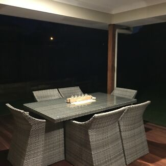 Outdoor wicker furniture set