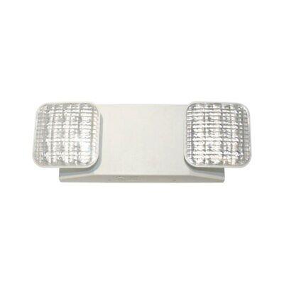Exitronix 2 Head Led Emergency Light Fixture 120277vac 3.6v Nicd Battery Led-90