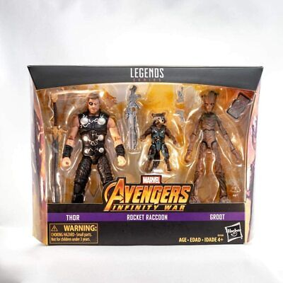 Avengers Infinity War Marvel Legends Thor, Rocket Raccoon, and Groot 6-Inch