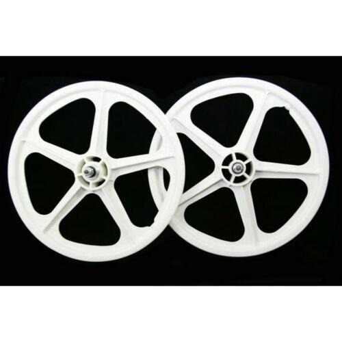 """Skyway Tuff II old school BMX mag wheels 20"""" wheelset freewheel 3/8"""