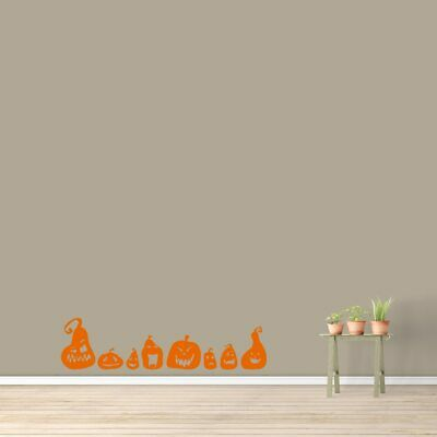 Halloween Entryway (Cute Pumpkins Wall Decal - Kids, Entryway, Halloween, Fall Autumn,)