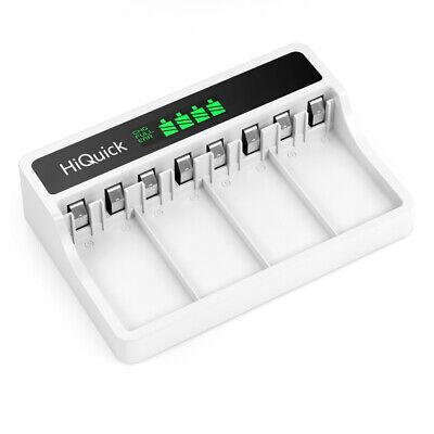 HiQuick 9V Akku Ladegerät für 9V NI-MH wiederaufladbare Batterien m.LCD Anzeige