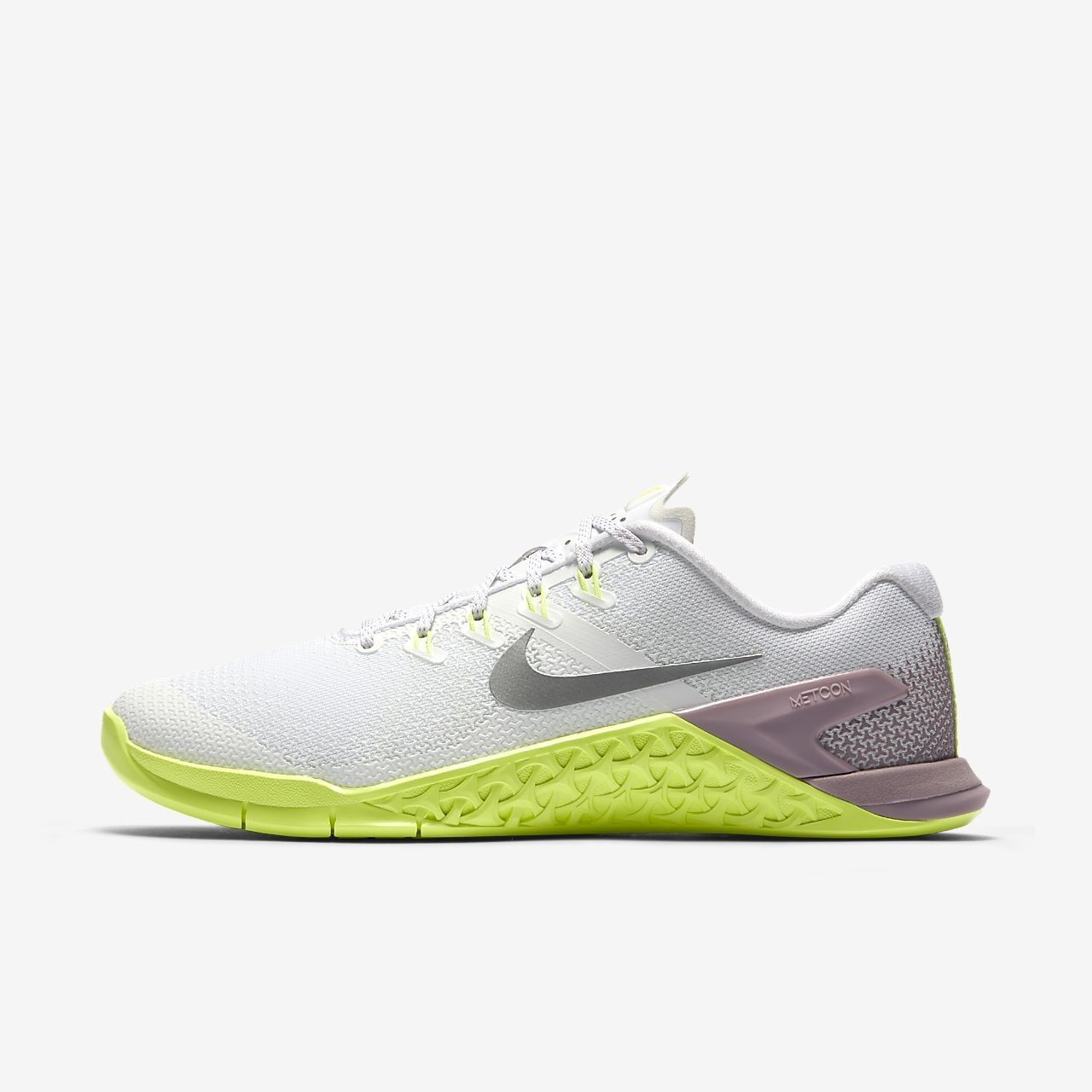 WOMEN'S NIKE METCON 4 SHOES white silver 924593 102 MSRP $130