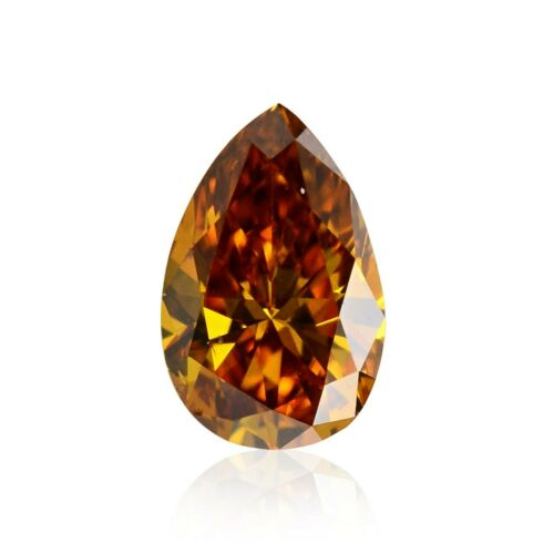 0.27Cts Fancy Deep Brownish Yellowish Orange Loose Diamond Natural Color GIA