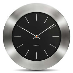 LEFF Amsterdam Bold35 Stainless Steel Designer Wall Clock 35cm Wiebe Teertstra
