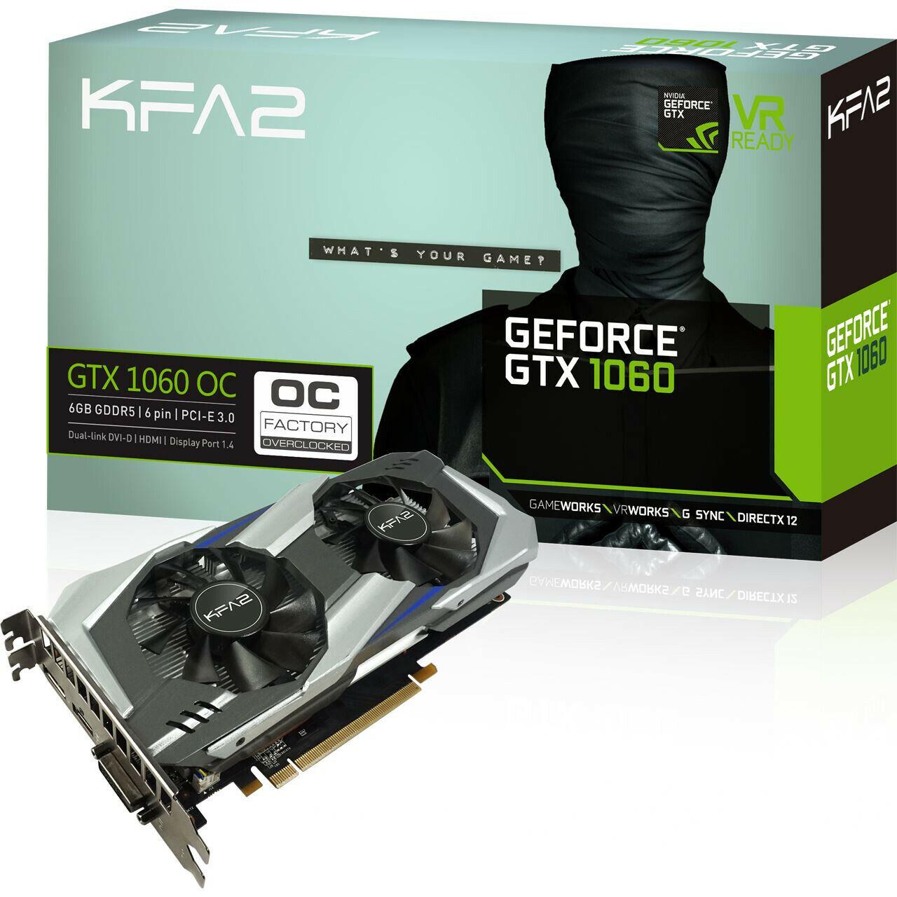 KFA2 Geforce GTX 1060 OC 6GB Grafikkarte *wie neu* (kein OC/mining)