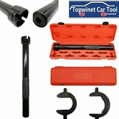 "Inner Tie Rod End Installer Remover 9pc Tool Set Kit Adjuster Universal 1/2"" Dr"
