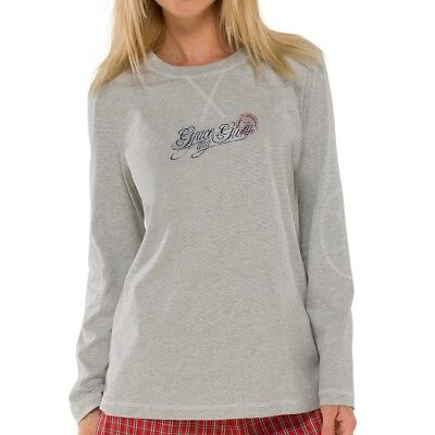 Schiesser Damen Schlafanzugshirt Pyjamashirt Langarm 1/1 - 140434